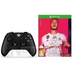 Microsoft Xbox One Kontroler bezprzewodowy (czarny) + FIFA 20