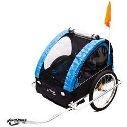 Przyczepka rowerowa Vivo Voyager BT-004 czarno-niebieska