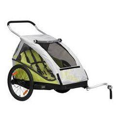 Przyczepka rowerowa dla dzieci XLC BS C05 DUO2, 2w1+ wózek, składana zielona