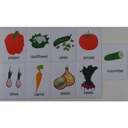 Warzywa karty edukacyjne - wersja w j. angielskim