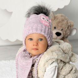 Komplet ajs 40-405 czapka+szalik rozmiar: 40-42cm, kolor: wielokolorowy, ajs