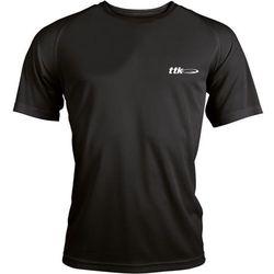 TTK R-NECK CAPSULE BLACK - koszulka tenisowa R. M