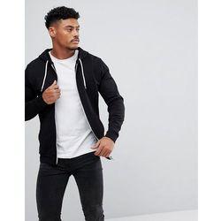 ASOS Zip Up Hoodie In Black - Black