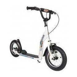 """Hulajnoga dla dzieci, pompowane koła 12"""" BikeStar kolor biały"""
