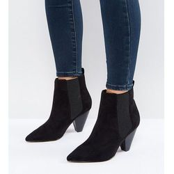 ASOS BELIEVE Wide Fit Heeled Ankle Boots - Black