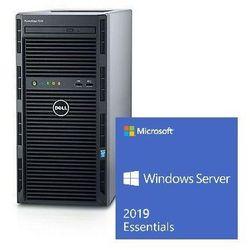 Serwer Dell T130 Xeon E3-1220v6 3.0GHz / RAM 8GB DDR4 / HDD 2x1000GB w Raid1 / 3Y NBD / Windows Server 2019 Essentials dla 25 uĹźytkownikĂłw / Zestaw!!!