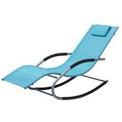 Leżak ogrodowy niebieski tekstylny bujany CARANO
