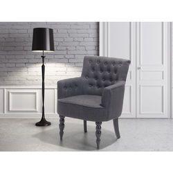 Fotel wypoczynkowy ciemnoszary do salonu tapicerowany - ALESUND