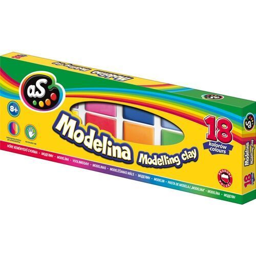 Modelina, Modelina szkolna 18 kolorów AS