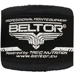 Beltor bandaż bokserski bawełniany czarny