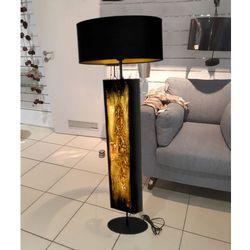 Złote zdobienia - ekskluzywna ręcznie rzeźbiona lampa podłogowa rabat 40%
