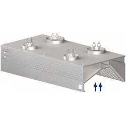 Okap przyścienny skrzyniowy kompensacyjny 2900x900x450 mm   STALGAST, 9821309290