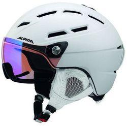 ALPINA GRIVA VISIER VHM WHITE - kask narciarski z szybą wizjer R. 51-55 cm
