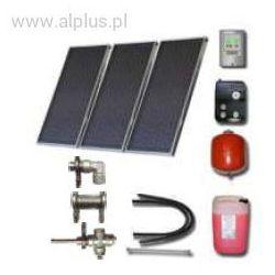Zestaw solarny dla 3-5 osób 3xkolektory słoneczne POLSKIE meandryczne z absorberem Al/Cu