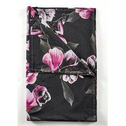 Narzuta z nadrukiem w magnolie bonprix czarny
