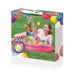 Bestway 51085 BASEN Z PIŁECZKAMI HAPPY TIME 91cmxH20cmX50balls (51068, Bestway)