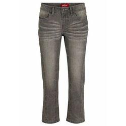 Spodnie chino z elastycznym paskiem bonprix niebieski moro