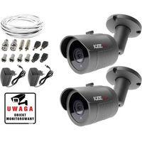 Zestawy monitoringowe, Monitoring kamera LV-AL30HT 2x kamera IR30m Ivel electronics Akcesoria