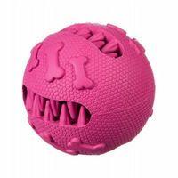 Piłki dla dzieci, Piłka szczęka kauczukowa na przysmaki M - pink