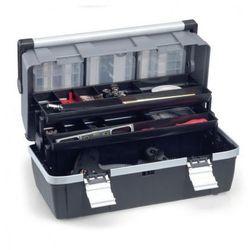 Plastikowa walizka z wysuwanymi półkami McPlus Alu C 22