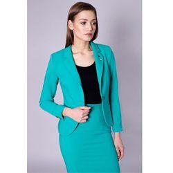 Zielona, taliowana marynarka - Click Fashion