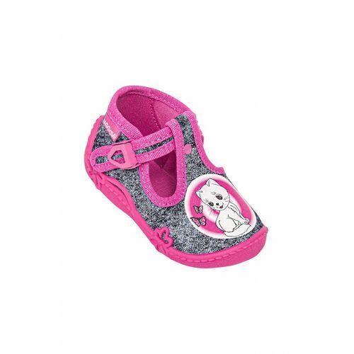 Obuwie domowe dziecięce, Kapcie dziewczęce różowe 3Z38B6 Oferta ważna tylko do 2031-09-09