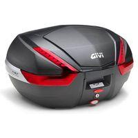 Kufry i bagażniki motocyklowe, Kufer Givi V47NN (czarny, 47 litrów, czerwone odblaski, pokrywa karbonowa)