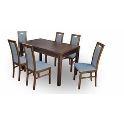 """Zestaw """"DIVA"""" stół + 6 krzeseł - antracyt"""