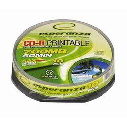 Płyty ESPERANZA CD-R 700MB 52X - CAKE BOX - 10szt.- PRINTABLE