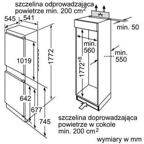 Lodówki i chłodziarki, Bosch KIV34X20