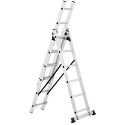 MSW Drabina aluminiowa - wielofunkcyjna - 3,38 m - 3 x 6 stopni MSW_AVL13 - 3 LATA GWARANCJI