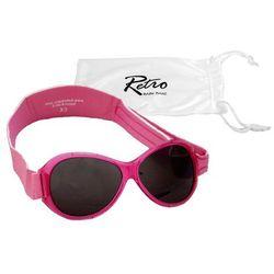 Okulary przeciwsłoneczne dzieci 0-2lat RETRO BANZ - Pink