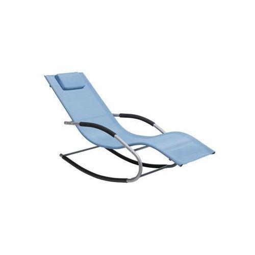 Leżaki ogrodowe, Leżak niebieski tekstylny bujany CARANO