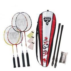 Zestaw badminton Talbot family 4 rakiety + słupki + siatka + lotki
