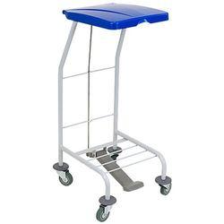 Wózek na odpady pojedynczy z pokrywą niebieską Wózek na śmieci i odpady pojedynczy