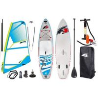 "Deski do windsurfingu, Zestaw Windsurfingowy-Deska Wind Sup F2 Wave 11'5"" + Pednik STX 2019"