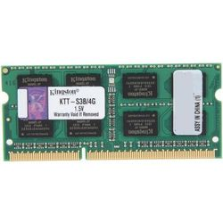 Pamięć RAM 1x 4GB KINGSTON SODIMM DDR3 1333MHz PC3-10600S | KTT-S3B/4G