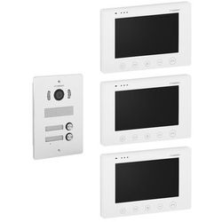 """Stamony Wideodomofon dwurodzinny - 3 x 7"""" - LCD ST-VP-300 - 3 LATA GWARANCJI"""