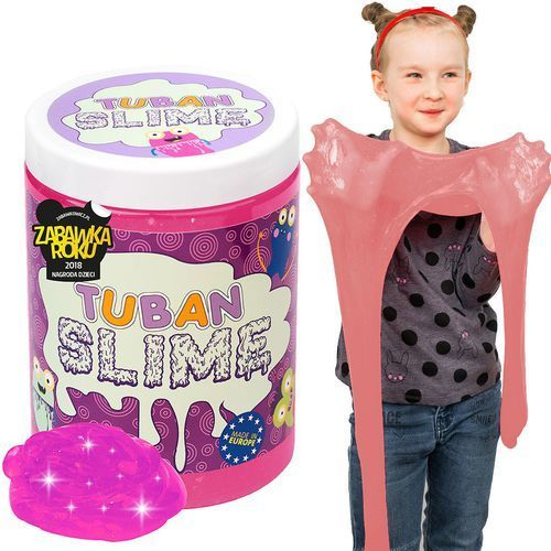 Kreatywne dla dzieci, Slime brokat neon różowy 1kg TUBAN