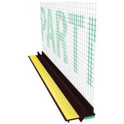 Profil przyokienny dylatacyjny w kolorze brąz z uszczelką i siatką (146g/m2) B=6mm L=2,5m 25szt