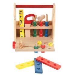 Drewniana skrzynka z narzędziami dla dzieci