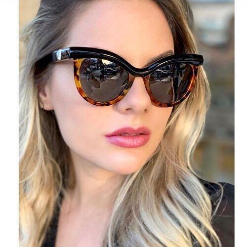 Okulary przeciwsłoneczne, Okulary przeciwsłoneczne kocie damskie panterkowe