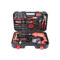 Zestaw narzędzi HOBBY w walizce z wiertarką elektryczną