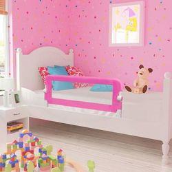 vidaXL Barierka ochronna do łóżeczka 102 x 42 cm różowa Darmowa wysyłka i zwroty