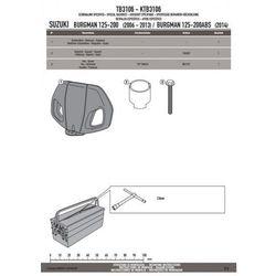 GIVI TB3106 OPARCIE PASAŻERA SUZUKI BURGMAN 125-200 K7-K8-K9-L0-L1-L2-L3
