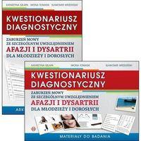 Książki dla dzieci, Kwestionariusz diagnostyczny zaburzeń mowy ze szczególnym uwzględnieniem afazji i dysartrii dla młodzieży i dorosłych materiały do badania i arkusz diagnostyczny (opr. miękka)