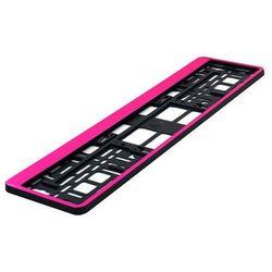 Ramka pod tablicę rejestracyjną HP Różowa 1 szt - Różowy