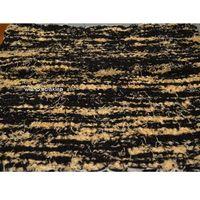 Wycieraczki, Chodnik bawełniany (wycieraczka) ręcznie tkany czarno-złocisto żółty 65x50