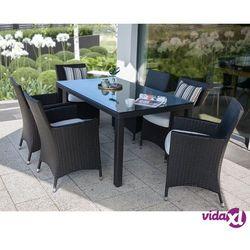 Beliani Meble ogrodowe rattan ogród patio weranda 6 krzeseł 160cm ITALY Darmowa wysyłka i zwroty