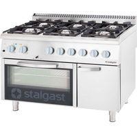 Piece i płyty grzejne gastronomiczne, Kuchnia gazowa 32,5 kW z piekarnikiem gazowym GN 2/1 STALGAST 9711130